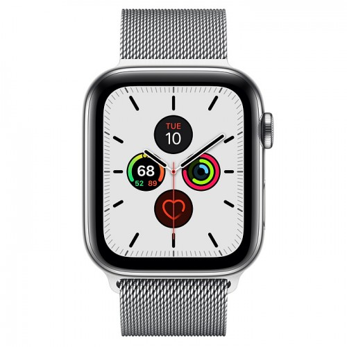 Часы Apple Watch Series 5 GPS + Cellular 44mm Stainless Steel Case with Milanese Loop(Silver) Серебристый. Фото N2