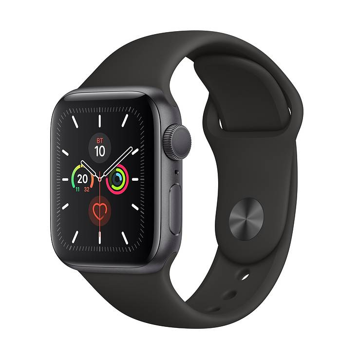 Часы Apple Watch Series 5 44 мм Aluminum Case with Sport Band Space Gray/Black (серый космос/черный) MWVF2. Фото N2