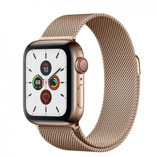Часы Apple Watch Series 5 GPS + Cellular 44mm Stainless Steel Case with Milanese Loop (Gold) Золотой