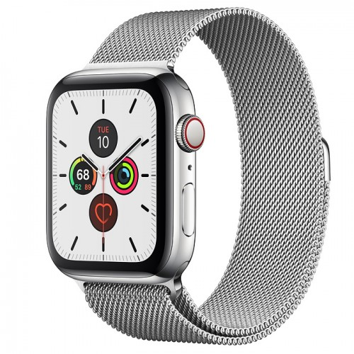 Часы Apple Watch Series 5 GPS + Cellular 44mm Stainless Steel Case with Milanese Loop(Silver) Серебристый
