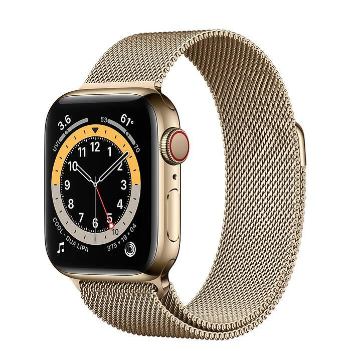 Часы Apple Watch Series 6 GPS + Cellular 44mm Gold Stainless Steel Case with Gold Milanese Loop
