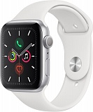 Часы Apple Watch Series 5 GPS 40mm Aluminum Case with Sport Band Silver/White серебристый/белый MWV62