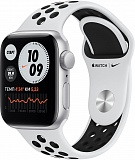 Часы APPLE Watch Nike SE 44mm Silver Aluminium Case with Pure Platinum/Black Nike Sport Band MYYH2