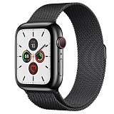 Часы Apple Watch Series 5 GPS + Cellular 44mm Stainless Steel Case with Milanese Loop (Space Black) Черный космос
