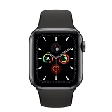 Часы Apple Watch Series 5 44 мм Aluminum Case with Sport Band Space Gray/Black (серый космос/черный) MWVF2